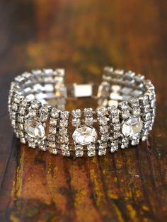 Free People Vintage Rhinestone Bracelet | More here: http://mylusciouslife.com/photo-galleries/bling-fling/