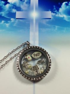 Beautiful, Faith, religious memory filled locket. Jewelry to remember! www.southhilldesigns.com/debi4151