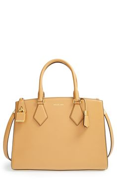 Oh, this light tan Michael Kors satchel is stunning.