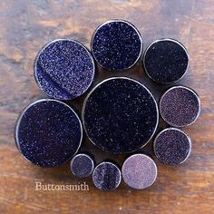 "Blue Goldstone Plugs Double Flared  8g 6g 4g 2g 0g 00g 7/16 1/2 9/16 to 1"" -10 sizes"