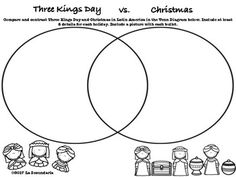 Compare and contrast cultures lesson plan culture pinterest three kings day v christmas venn diagramel da de los rey ccuart Gallery