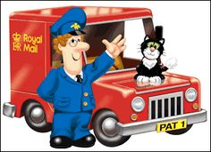 Postman Pat & Jess.  My Youngest son asked me to Repin this Image.