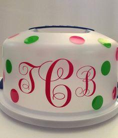 Personalized Cake Taker by GlitterChics1 on Etsy, $13.00