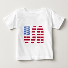 USA T SHIRT |Wear Flags Style: Baby Fine Jersey T-Shirt Your search for the ultimate basic infant T-shirt is officially over. This cotton tee is soft enough for even the most sensitive skin. It's available in basic and not-so-basic colors, from red, white and blue to key lime, lavender and raspberry. Dress it down with jeans or up with khakis. No matter how your little guy or gal wears it, it's guaranteed to be in style.
