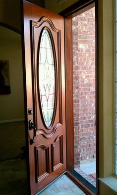 "3'0""X8'0"" Mahogany Entry Replacement #doors"