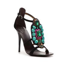 Giuseppe's Suede Jewel Sandal stopped my ❤