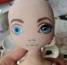 Doll Sewing Patterns, Sewing Dolls, Doll Clothes Patterns, Tiny Dolls, Soft Dolls, Cute Dolls, Doll Face Paint, Doll Painting, Doll Eyes