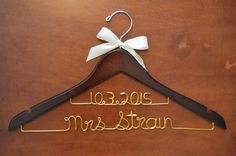 Two Line Personalized Wedding Hanger