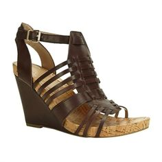 Step Out In Style / BCBGeneration Blayne Strappy Cage Wedge #VonMaur #BCBGeneration #Brown #Sandal ||