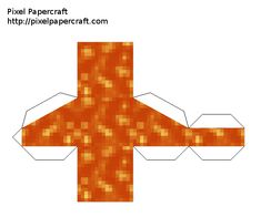 Papercraft Flowing Lava (Fixed) Minecraft Seed, Minecraft Blocks, Minecraft Toys, Easy Minecraft Houses, Minecraft Crafts, Minecraft Party, Minecraft Skins, Minecraft Templates, Minecraft Images