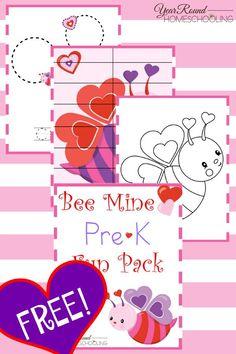 Free Bee Mine PreK Fun Pack - Year Round Homeschooling