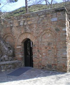 Entrance to what is believed is the actual house of the Mother Mary, Efes, TURKEY
