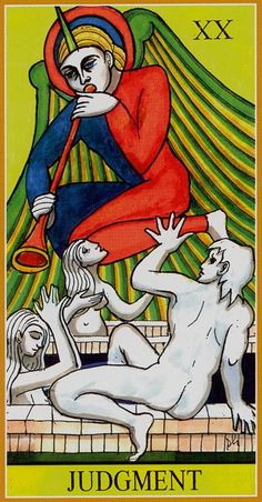 XX. Judgment - Dame Fortune's Wheel Tarot by Paul Huson.