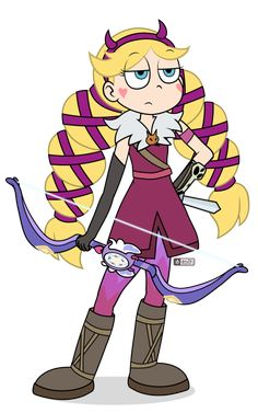 """So her wand turns into a bow. No Bases. Please do not modify my work in any way. The Forces of Evil"""" & Original Characters © Disney, Daron Nefcy & DisneyXD &nb. Starco, Natsu And Gray, Princess Star, Disney Princess Fashion, Animal Crossing Pocket Camp, Old Shows, Star Butterfly, Star Vs The Forces Of Evil, Force Of Evil"""