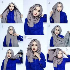 hijab style classic hijab tutorial with volume obpquvo Tutorial Hijab Segitiga, Square Hijab Tutorial, Simple Hijab Tutorial, Stylish Hijab, Hijab Chic, Easy Hijab Style, New Hijab Style, Islamic Fashion, Muslim Fashion