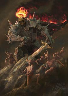 My favorite creepy fantasy art Dark Fantasy Art, Fantasy Armor, Medieval Fantasy, Ange Demon, Demon Art, Fantasy Monster, Monster Art, Gothic Horror, Horror Art