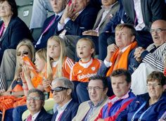 16 June 2014 Queen Maxima, King Willem-Alexander and their daughter attended the men's tournament between Australia and the Netherlands of the Field Hockey World Cup in The Hague
