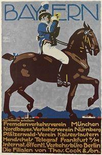 Bayern poster von Ludwig Hohlwein