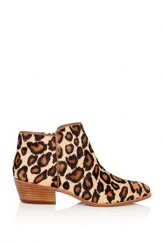 LOVE THESE! - Leopard Petty Flat Ankle Boot by Sam Edelman