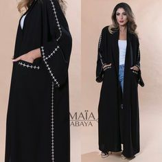 Perfect for everyday➰ Abaya Fashion, Modest Fashion, Fashion Dresses, Modern Abaya, Iranian Women, Abaya Designs, Hijab Fashion Inspiration, Mode Hijab, Young Fashion