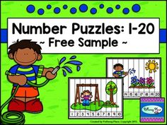 Number Puzzles: 1-20  {Free Sample Set}This Number  Puzzles activity set contains 2 printable puzzles focusing on ordering numbers 1-20.  Each page has a fun picture with cutting lines and ten ordered numbers, ranging  from 1-20. Simply print the puzzles and cut apart the pieces.