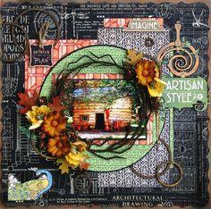 Scrap, Travel, and Bark!: Creative Embellishments  Twiggy frame.