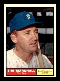 1961 Topps #188 Jim Marshall  NM/NM+ X1400238 #sfgiants #SanFranciscoGiants