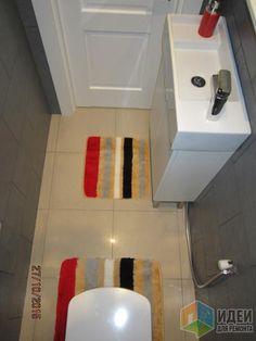 Расположение сантехники в туалете, туалет с мини-раковиной