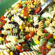 Black Bean Corn Pasta Salad