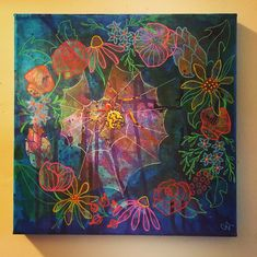 Flower Child by Melanie Jacobs of Aurynge & Lemony Original mixed media on wrapped canvas Art Therapy, Wrapped Canvas, You Got This, Mixed Media, Children, Flowers, Painting, Instagram, Kids