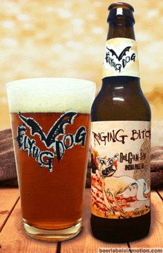 Raging Bitch is a Belgian-Style IPA brewed by Flying Dog Brewery out of Maryland. Never had a Flying Dog beer i didn't like yet, though haven't tasted this one, & haven't found them here in Frogland yet.