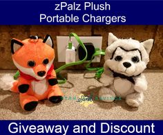 Fabulous Valentine's Day gift for your kids! zPalz! Portable battery chargers inside stuffed animals--attach to backpacks! Click to win and get a $5 discount plus some FREE coordinating Valentines to print!ZPalz Plush Giveaway and Discount