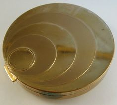 Art Deco Compact Stepped Circles Design by VintageJewelsAndMore, $25.00