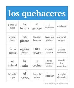 19 Best Chores (Los quehaceres images   Teaching spanish ...
