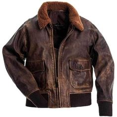 G1 US Navy Distressed Brown Vintage Biker Military Bomber Leather Jacket Mens. This jacket belongs to military style g1.It can be used on multiple occasions, like Streetwear, Motorcycle, Biker, Winter and also who loves to wear military style outfits. Material: Premium Quality Real Cowhide Leather with Artificial Fur CollarLining: PolyesterColour: Distressed BrownPocket: Two Inside & Two OutsideAccessories: Original YKK'sFastening: Zipper Care: Dry-Clean onlySuitable For All SeasonsStyle: Mi Leather Flight Jacket, Flight Bomber Jacket, Leather Jacket Outfits, Bomber Jacket Men, Leather Jackets, Bomber Jackets, Leather Coats, Fur Bomber, Distressed Leather Jacket