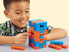Subtraction Tower of Math Game