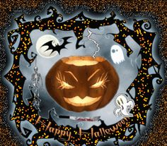 Happy Halloween Animated happy animated gif pumpkin halloween greeting