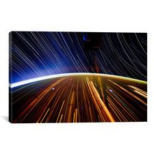 Astronomy and Space 'Long Exposure Star Photograph from Space II' Graphic Art on Canvas