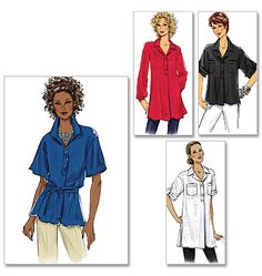 B5218 | Misses' Top and Tunic | View All | Butterick Patterns