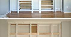 IKEA HACK: DIY BUILT-IN BOOKCASE with Hemnes furniture   Studio 36 Interiors   rangements   Pinterest   Diy Bookcases, Hemnes and Ikea Hacks