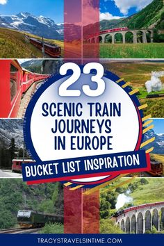Do you love train travel? Read about some of the most beautiful train journeys in Europe in this epic article which includes information about such iconic rail journeys as the Bernina Express and the Flamsbana. #traintravel #europe European Road Trip, European Travel Tips, European Destination, Europe Train Travel, Europe Travel Guide, Travel Destinations, Bernina Express, Europe Bucket List, Cities In Europe
