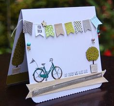 Stamp Paw: + on + your + path + all + Good + Adventure + stampin + up Source by Stempeltatze Paper Cards, Diy Paper, Diy Cards, Goodbye Cards, Bicycle Cards, Valentine Day Cards, Diy Box, Scrapbook Cards, Stampin Up Cards