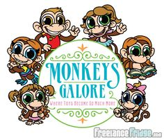 Character IP Development of Cartoon Monkeys and Logo