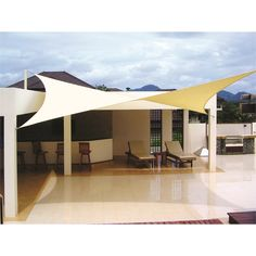 Sail Shades - In the summer, the sun can get pretty hot. A good idea that doesn't cost a lot, looks fantastic, and provide shade to your backyard all day long… It's a sail shade!