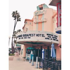 Lido Theater in the morning | Lido Island, Newport Beach California | April 2014 playing The Grand Budapest Hotel
