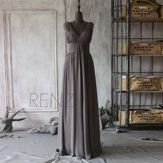 2015 Grey Bridesmaid dressStrapless Womens Wedding by RenzRags