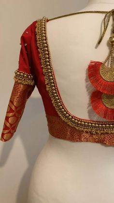 Full Sleeves Blouse Designs, Wedding Saree Blouse Designs, Pattu Saree Blouse Designs, Fancy Blouse Designs, Peacock Blouse Designs, Brocade Blouse Designs, Wedding Blouses, Hand Work Blouse Design, Hand Embroidery