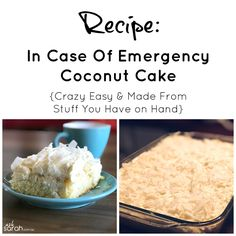 http://www.asksarah.com.au/recipe-in-case-of-emergency-coconut-cake-crazy-easy-made-from-stuff-you-have-on-hand/ In Case Of Emergency, Angel Food Cake, Friday, Au, Coconut, Cereal, Angel Cake, Angel Food Cakes, Corn Flakes