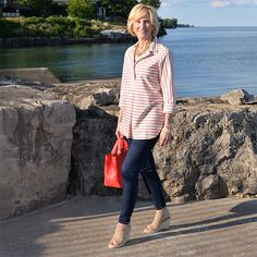 You don't have to go sailing to pull off nautical style! Deborah of Fabulous…