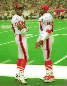 1994 San Francisco 49ers Jerry Rice and Deion Sanders